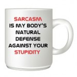 Sarcasm customised mug