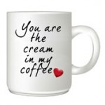 Your-are-the-cream customised mug