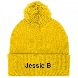 Personailsed Alpine-Beanie-Yellow-A
