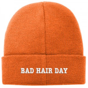 Personalised Aspen-Beanie-Orange-B
