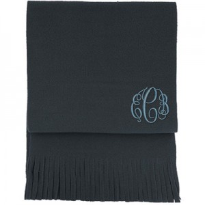 Personalised Blizzard-Scarf-Charcoal-C
