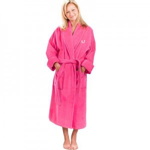 Personalised Coral Fleece Gown-Pink