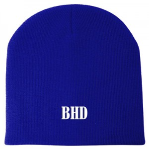 Personalised Skull-Beanie-Royal Blue A
