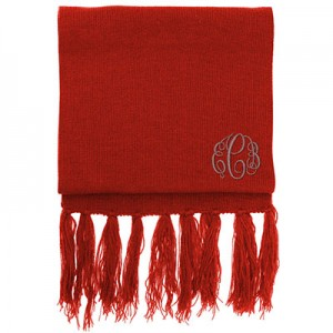 Personalised Aspen-Scarf-Red A