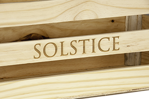 Personalised Wooden Crate Close Up