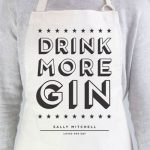 Personalised Apron Drink More Gin