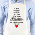 Personalised Apron First Wedding Anniversary