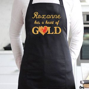 Personalised Heart of Gold Apron
