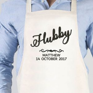 Personalised Hubby Apron