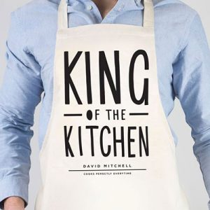 personalised apron king of the kitchen