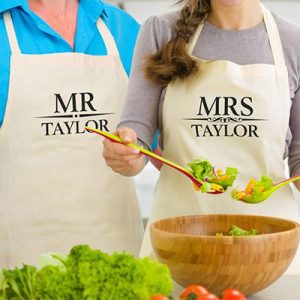 Personalised Apron Mr and Mrs