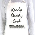 Personalised Ready Steady Cook Apron